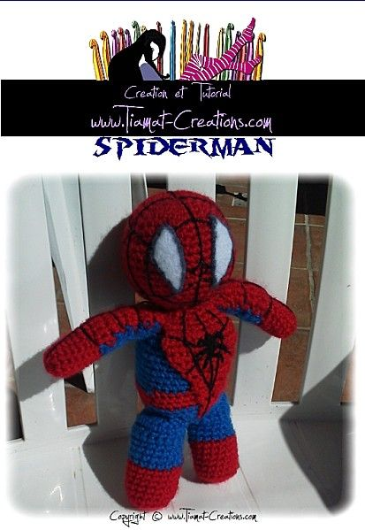 spiderman au crochet patron gratuit free crochet pattern spiderman - Spider Man Gratuit