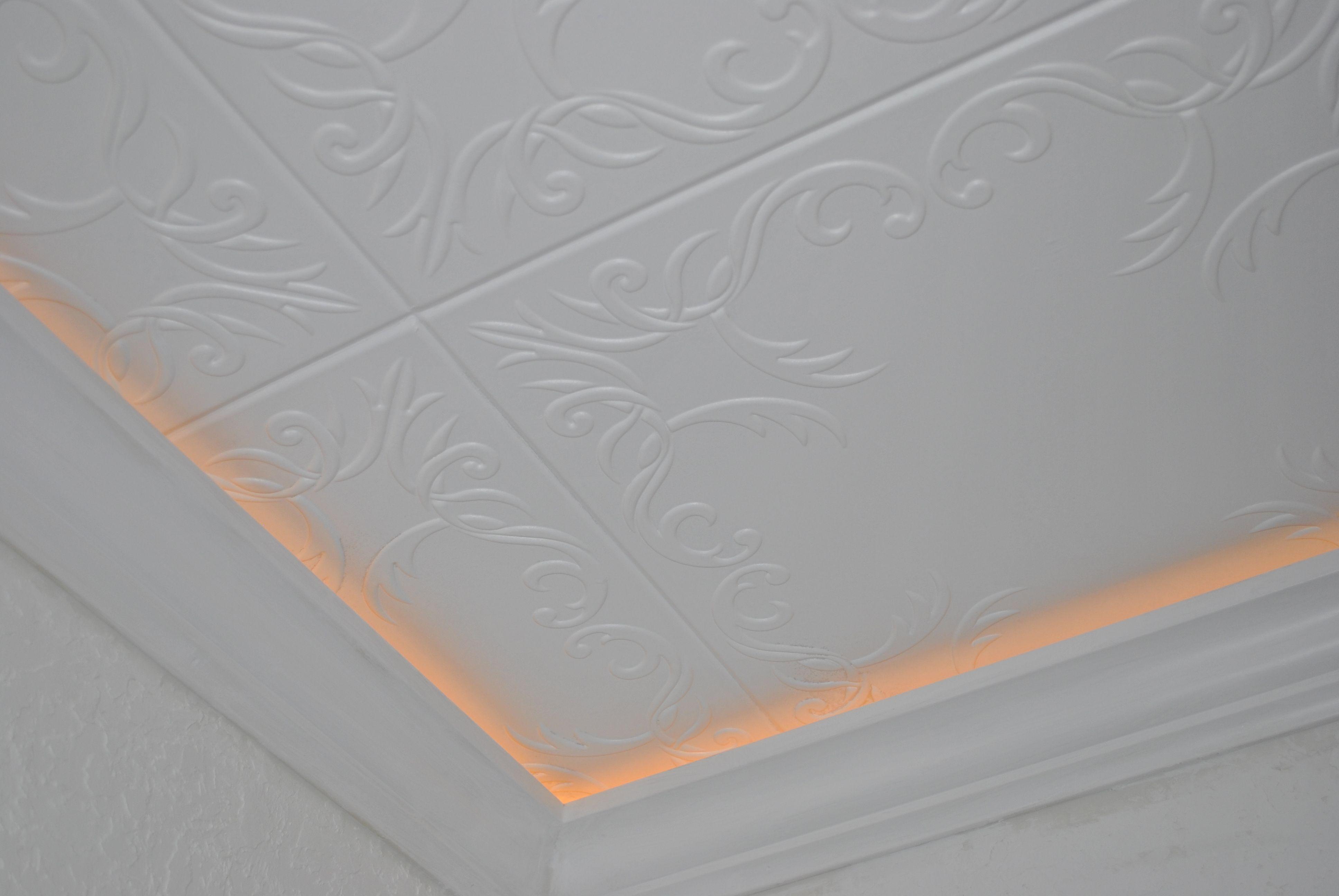 Antique white foam ceiling tiles