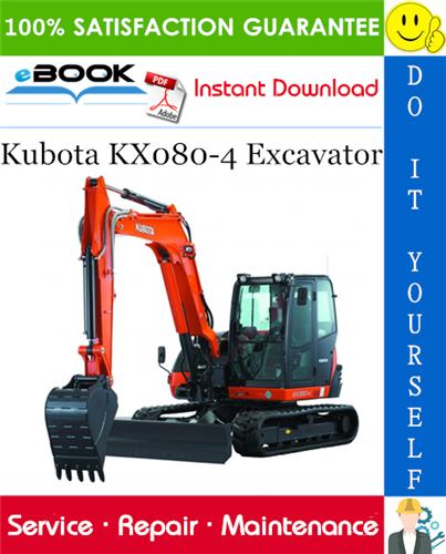 Kubota Digger KX080-4 Operating Instruction Manual New Tractor ...
