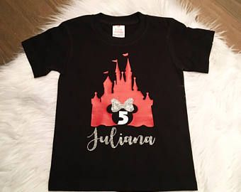 Minnie Birthday Shirt Disney Disneyland Custom