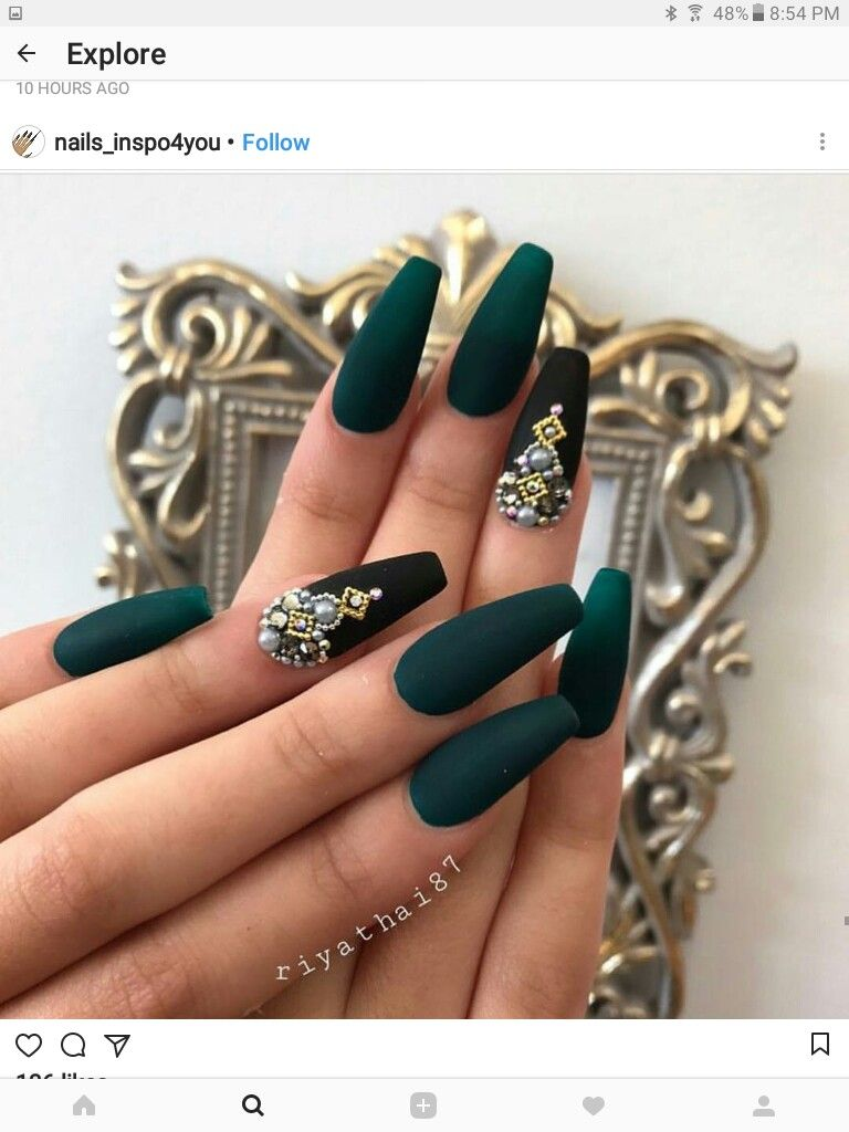 Pin by Sydnay Rhynes on nails for sky | Pinterest | Nail inspo ...