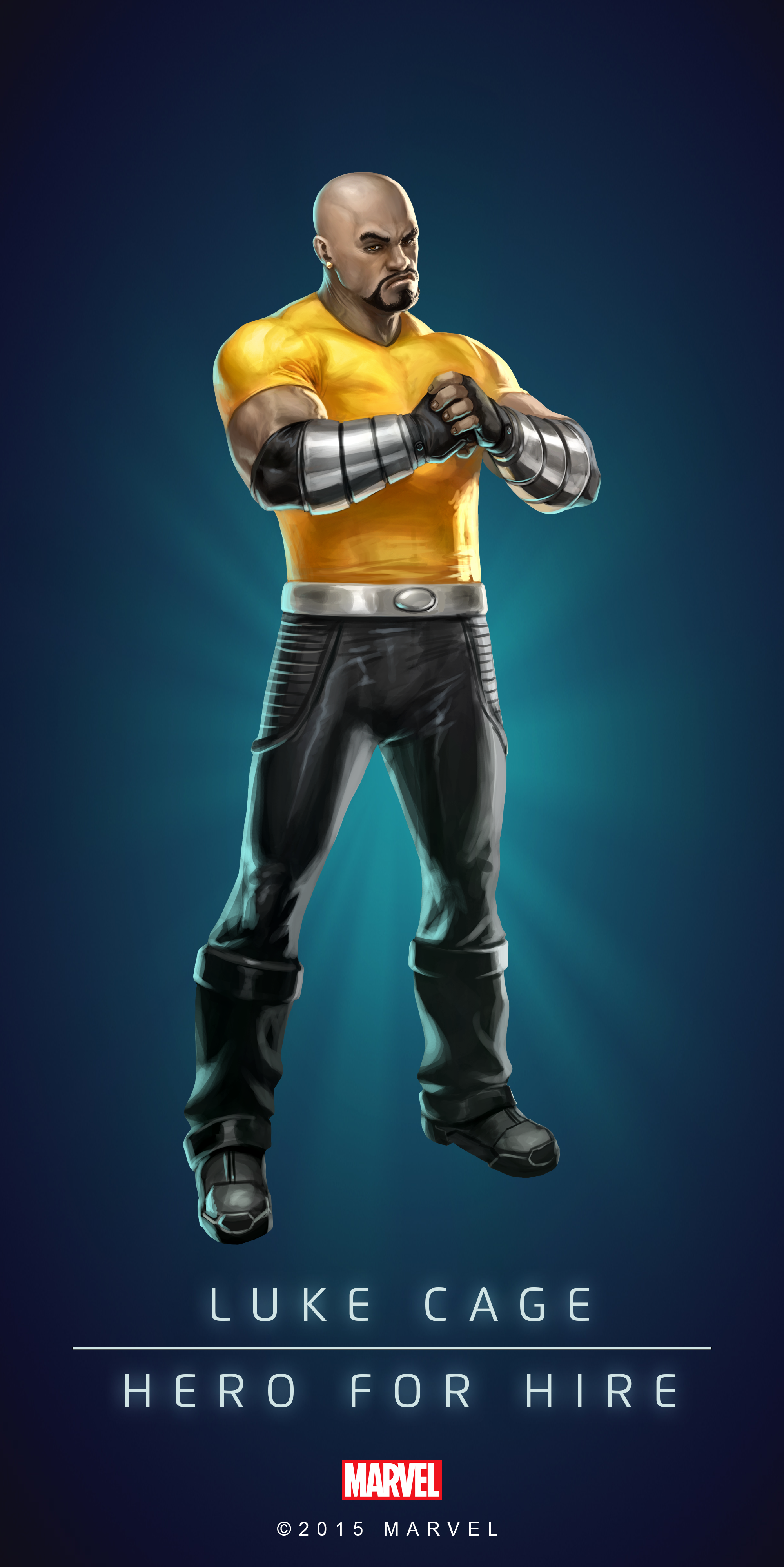 Luke Cage Fan Art Luke Cage Hero For Hire In Marvel S Puzzle Quest By Amadeus Cho The 5 Marvel Comic Character Marvel Superheroes Marvel Puzzle