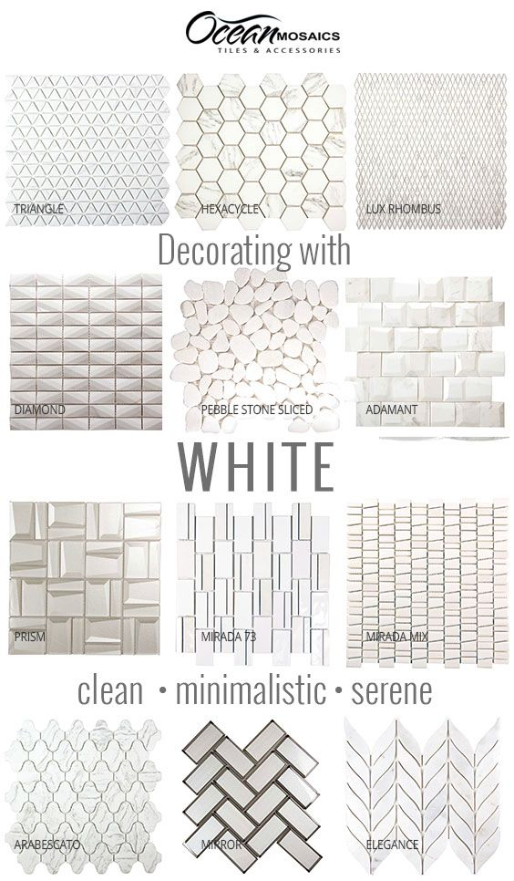 Shop  All     - Shop By Color - White Tile - Page 1