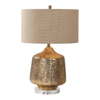 Highland Dunes Leah Metallic 24 Table Lamp Wayfair In 2020 Gold Lamp Lamp Gold Table Lamp