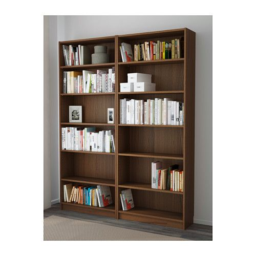 billy bookcase brown ash veneer ikea seems to be just 2 of the other billy bookcase side by. Black Bedroom Furniture Sets. Home Design Ideas