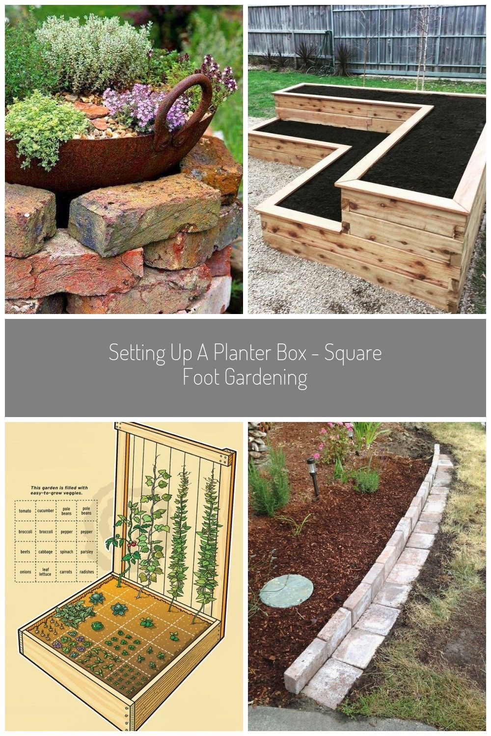 14 Brick Flower Bed Design Ideas You Can Replicate Instantlybed brick design flower ideas instantly replicateHochbeete einjhrige Blumen und Kruter Blumen diyeasygardenideas einjhrige Hochbeete Kruter undPhoto Credit I love square foot gardening SFG Ive done i #gardening ideas flower 14 Brick Flower Bed Design Ideas You Can Replicate Instantlybed brick design flower ideas instantly replicateHochbeete einjhrige Blumen und Kruter Blumen diyeasygardenideas einjhrige Hochbeete Kruter undSet