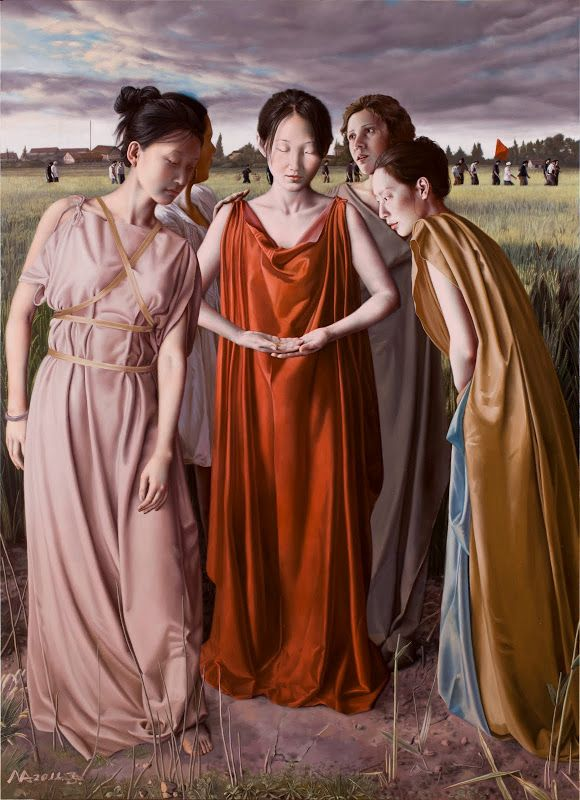 Chinese art Ma Jing Hu, born in August 1974 Nanjing, Jiangsu Province, is a professional painter. In 2000 graduated from the Nanjing Art Institute.