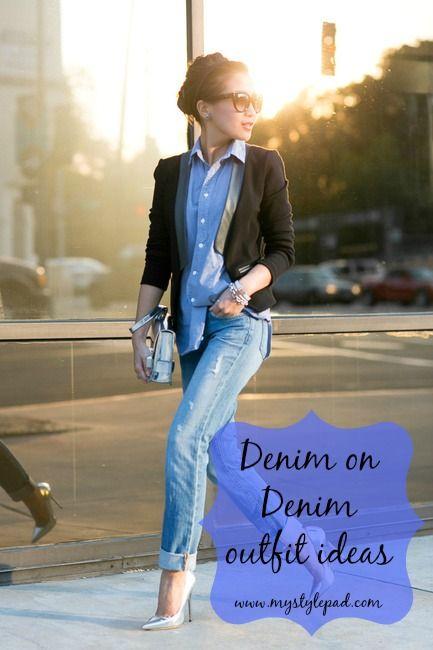 denim on denim | www.mystylepad.com