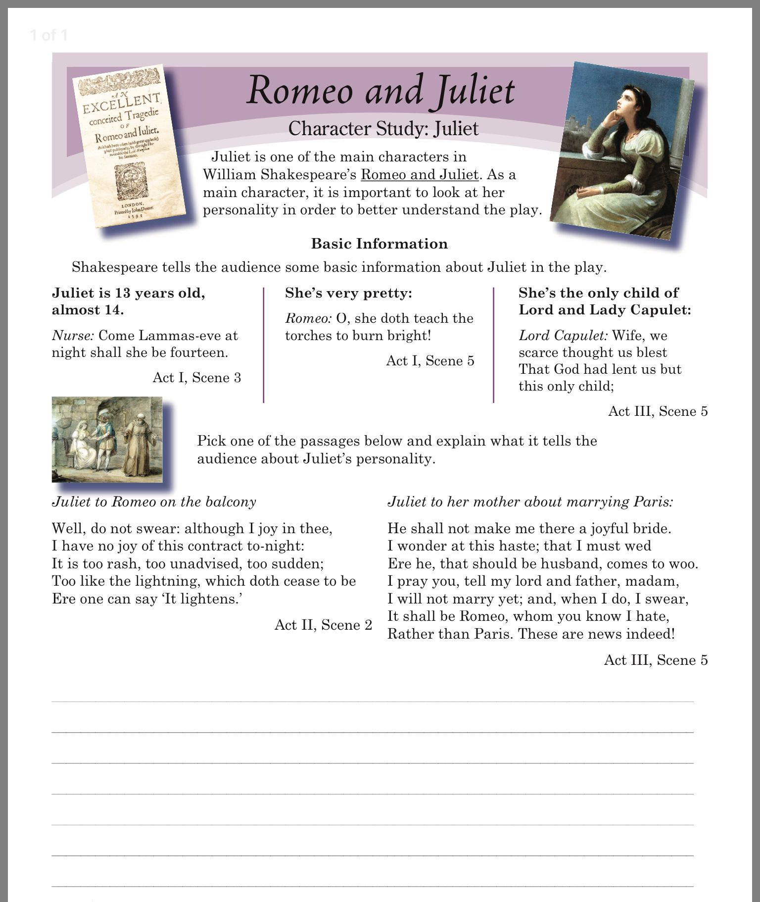 Pin By Nicole On Romeo And Juliet With Images Teaching
