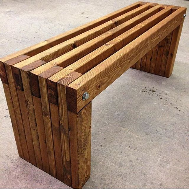 outdoor wood on tradectory likes the make pieces comments pin simple trades using instagram this a directory to bench over garden idea for left