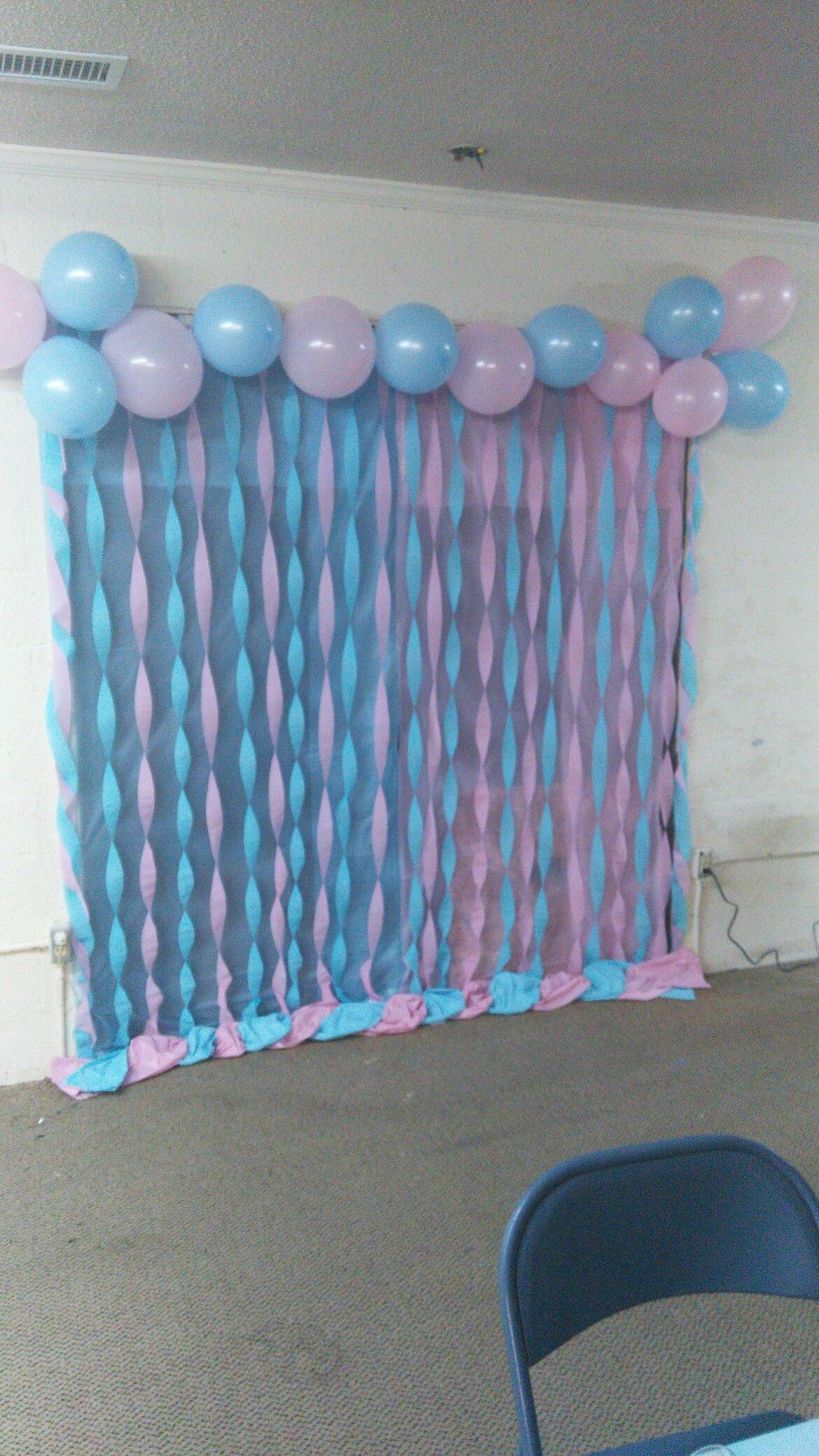 Back drop r my cousin s gender reveal party