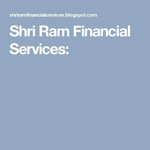 Shri Ram Financial Services Financial Services Quick Loans Financial