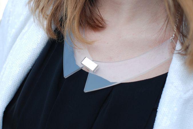 plexi glass necklace
