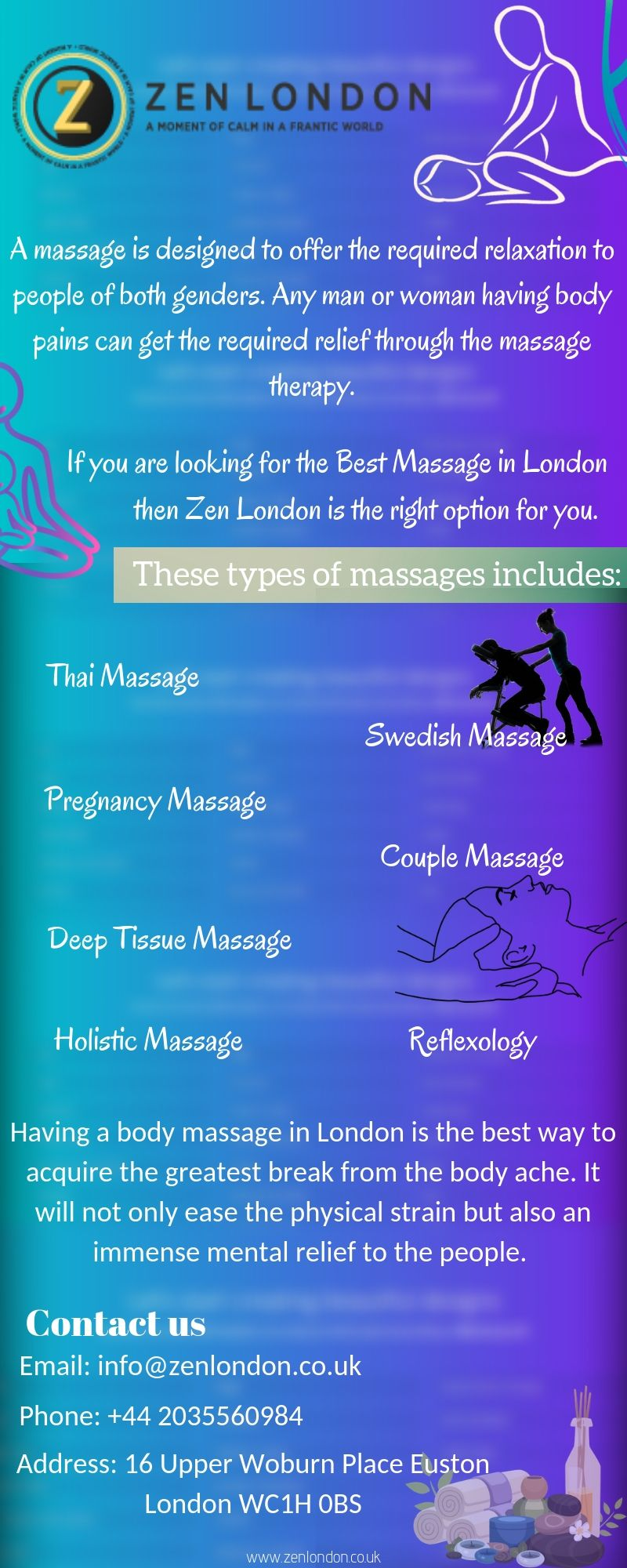 A professional Massage London UK will be designed to offer
