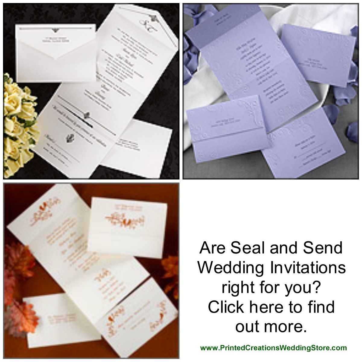 Seal n Send wedding invitations by Carlson Craft - see more designs ...