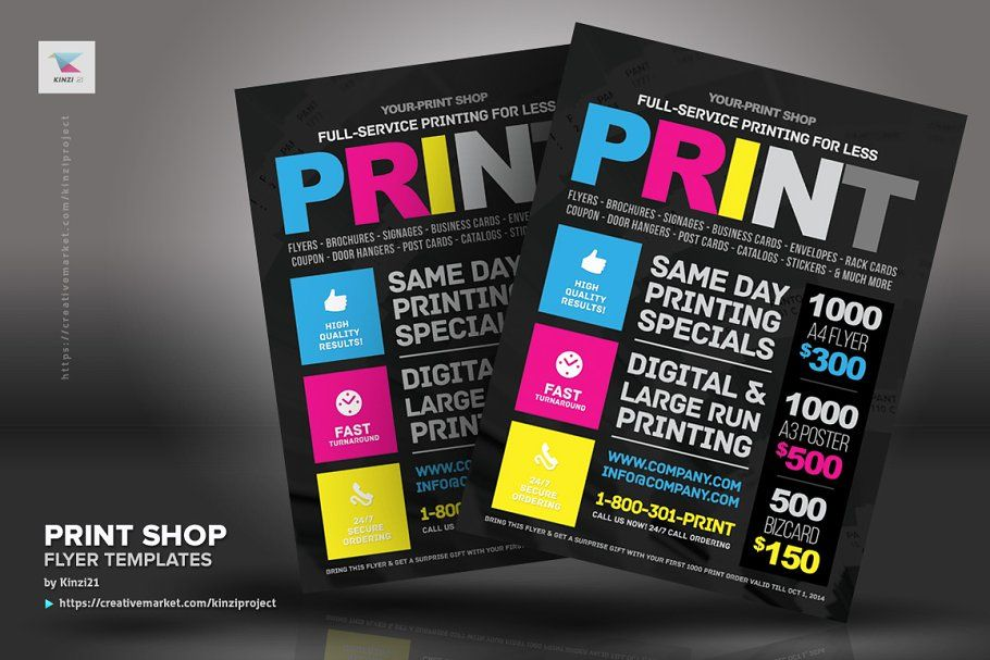 Print Shop Flyer Template Flyer Template Flyer Shop For Less