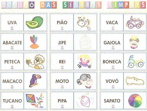 Conhecido ESPAÇO EDUCAR: Jogo educativo: Dominó das sílabas simples  EN27