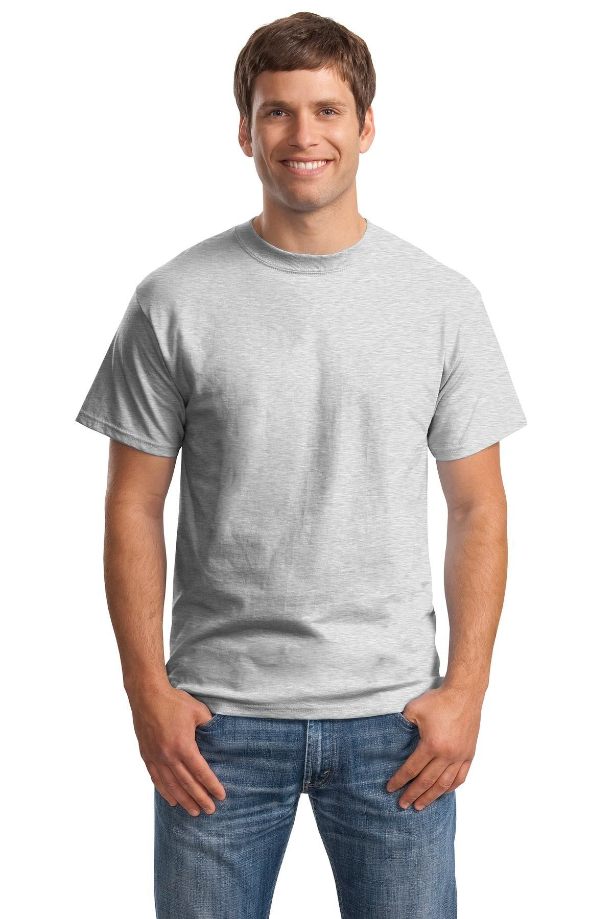 Hanes Beefy-T - Born To Be Worn 100% Cotton T-Shirt.5180 Ash