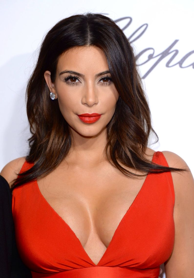 Red Lips Red Dress Kim Kardashian Kim Kardashian Hair