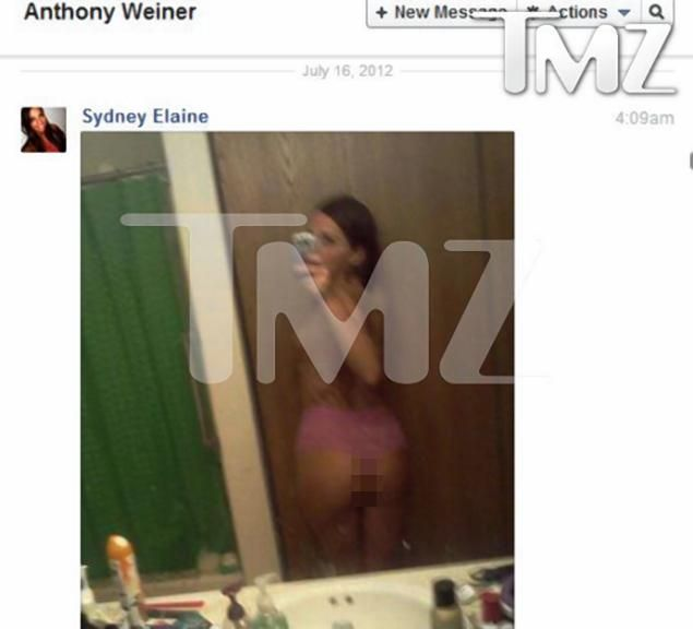 Sydney Leathers Get representation by an agent (same one for Octomom and for tan mom) - Sydney Leathers, 23, told TMZ she sent this photo and others to Anthony Weiner in July 2012, when they began an online relationship.