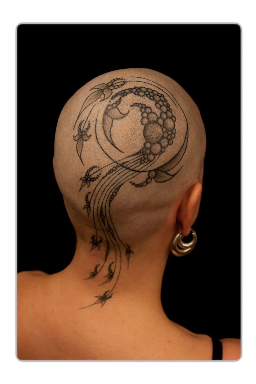 50 Fantastic Scalp Tattoos Tetování