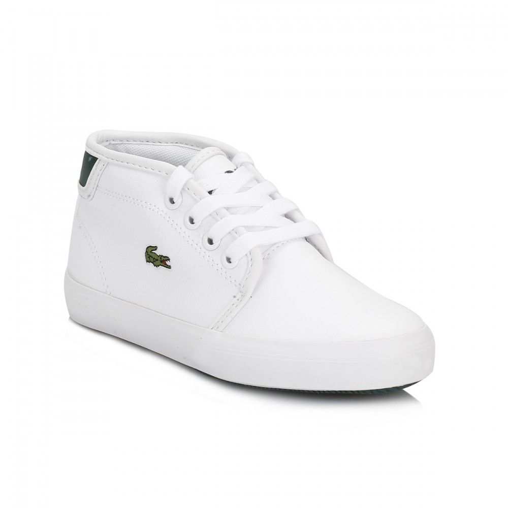 6915514659834 Lacoste Kids White Ampthill REI Trainers Tower Of London