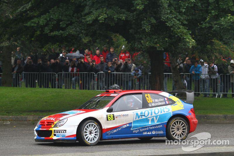 Yvan Muller en Gilles Mondesier, Citroën Xsara WRC Rally