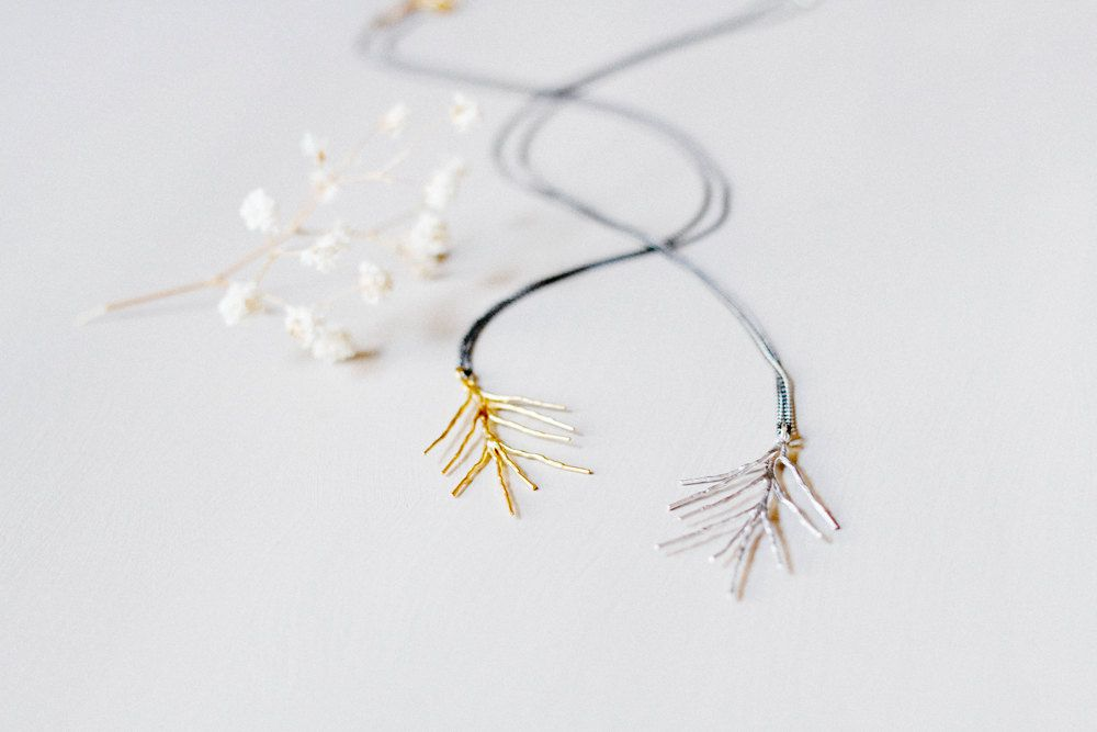 Needles necklace. $28.00, via Etsy.