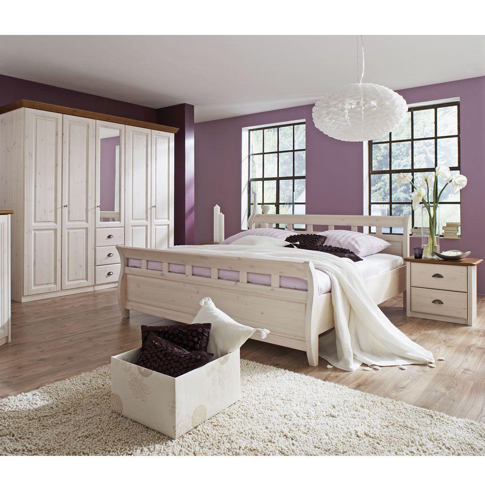 Schlafzimmer-Komplettset in Weiß (4-teilig) --- Landhaus lebt ...