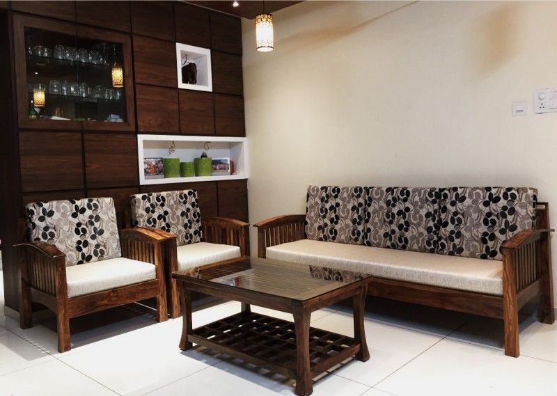 Sheesham wood 3+2+1 JOPESTRIP SOFA Rightwood furniture ...