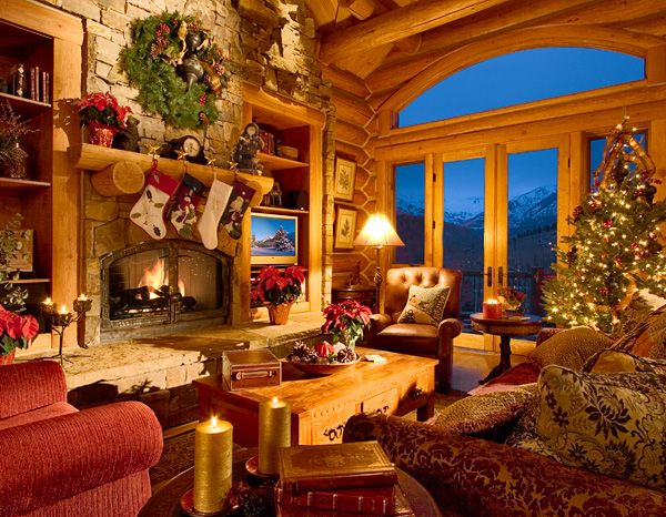 Log Home Christmas...so Cozy!