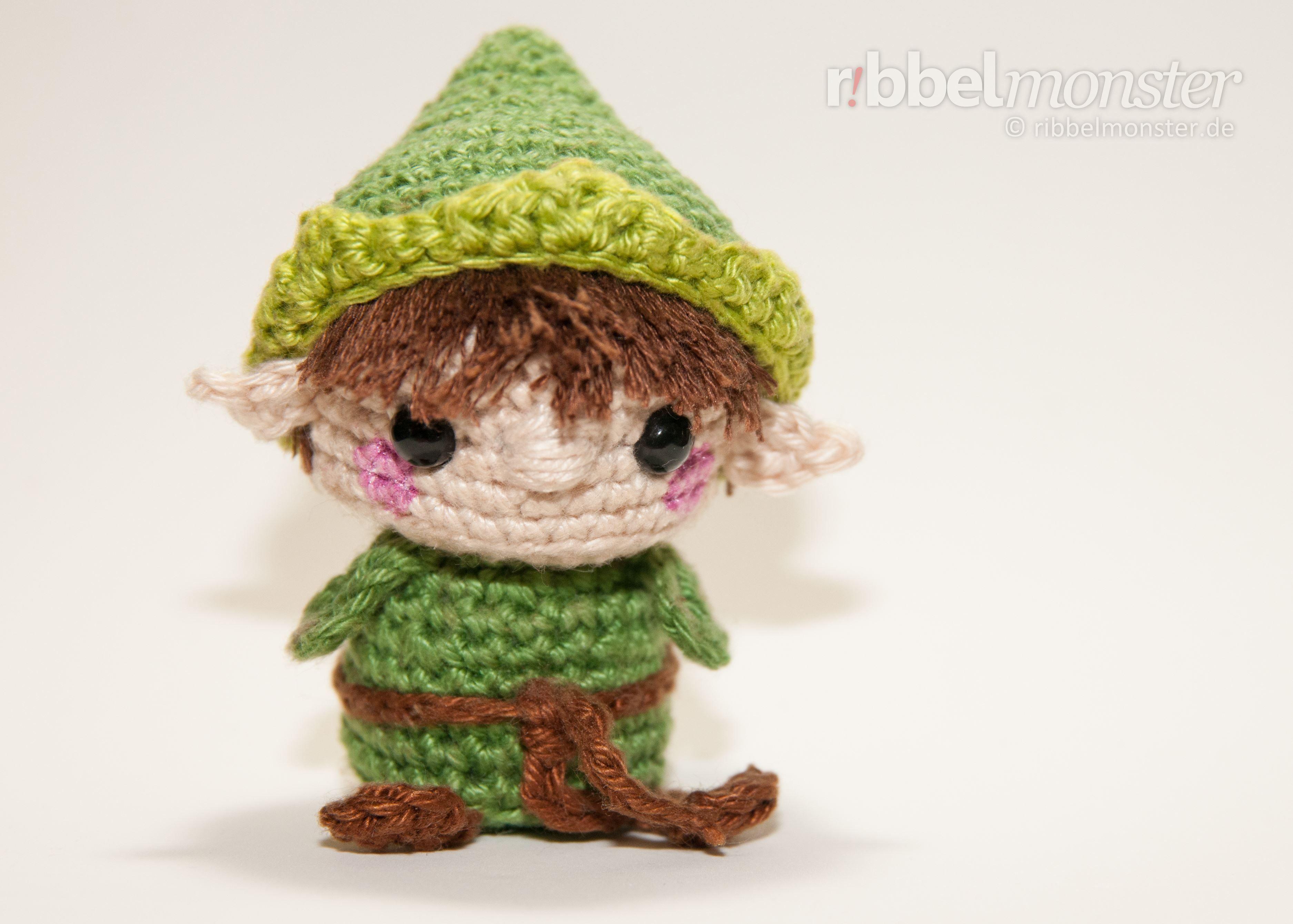 Amigurumi Minimee Elf Häkeln Tinsel Gratis Anleitung Crochet