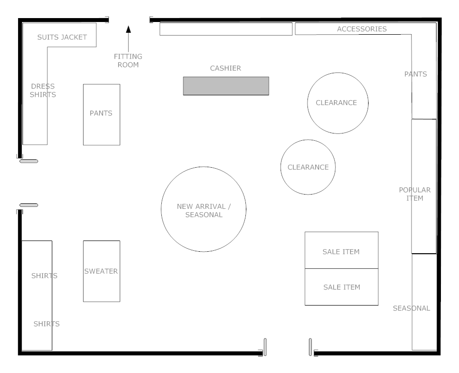 Example Image Boutique Floor Plan Store Layout Store Design Boutique Store Plan