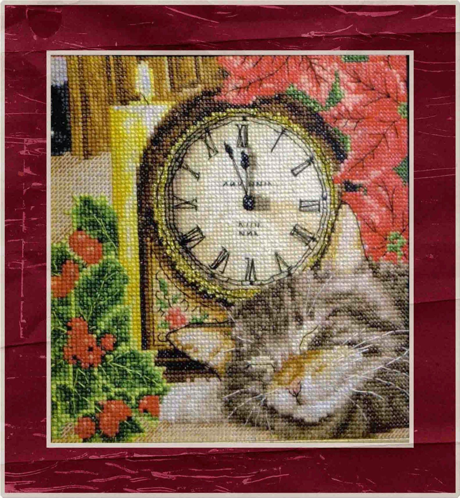 Вышиваем. Шьём. Творим: Спящий кот. За 3 минуты до Нового года
