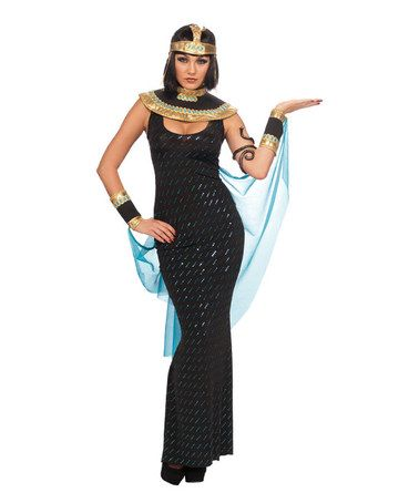 3606d275cf0 Look what I found on  zulily! Black Goddess Cleopatra Dress-Up Set ...