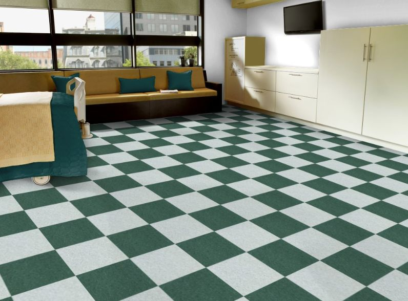 Armstrong S 51947 Basil Green With 51938 Willow Green In 12 X 12 Inch Tiles Vinyl Flooring Flooring Inspiration Lvt Tile