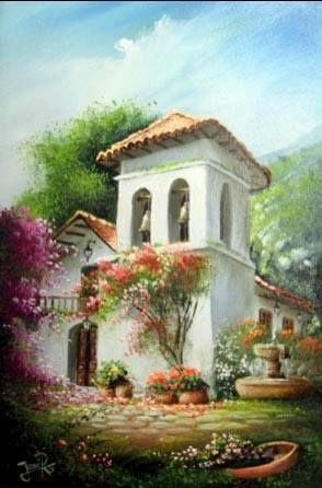 Jose Raul Rodriguez Galan Colombia Lindas Paisagens Arte Da Paisagem Pinturas Bonitas