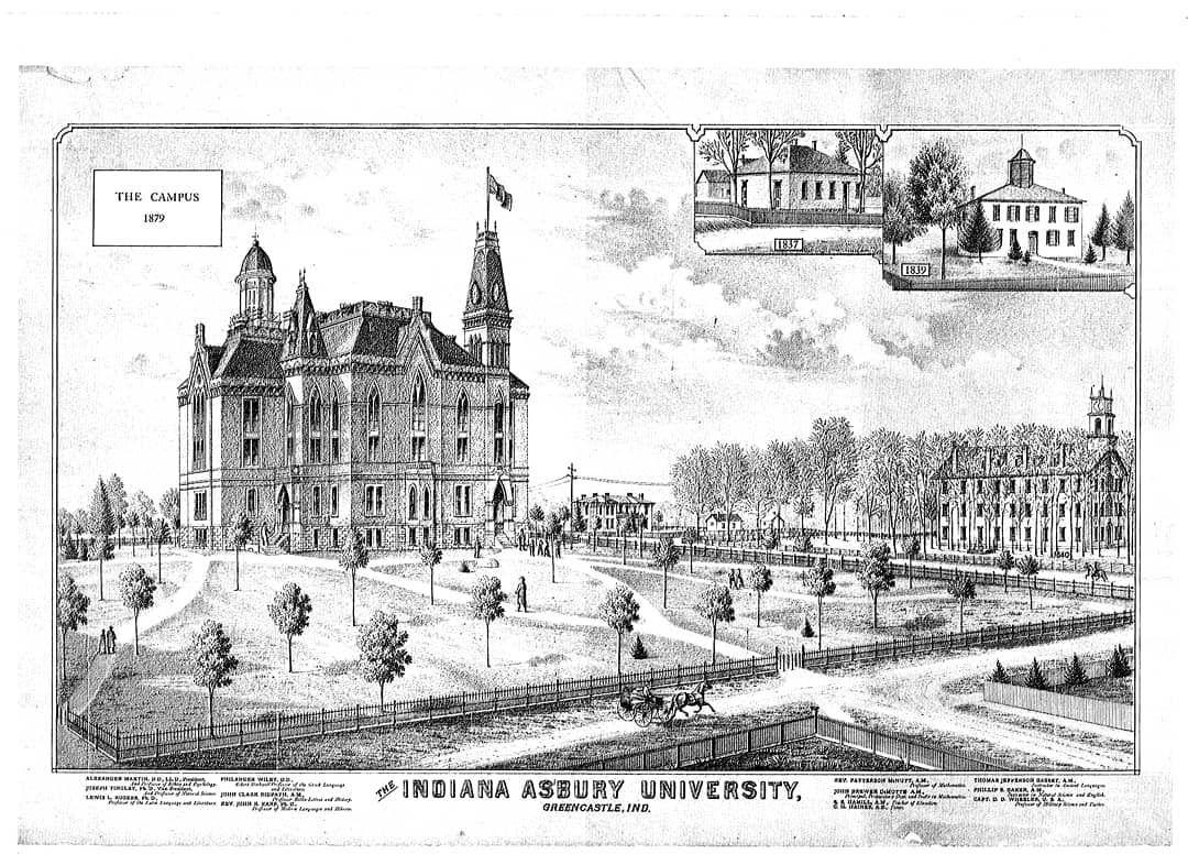 History Of Depauw University Indiana Colleges Pinterest