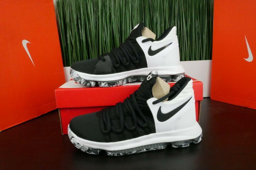 wholesale dealer a7b5c 7ee74 eBay Sponsored) Nike KD 10 Playoffs Kids GS Youth Shoes Oreo ...