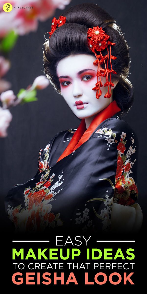 Easy Makeup Ideas To Create That Perfect Geisha Look Make Up