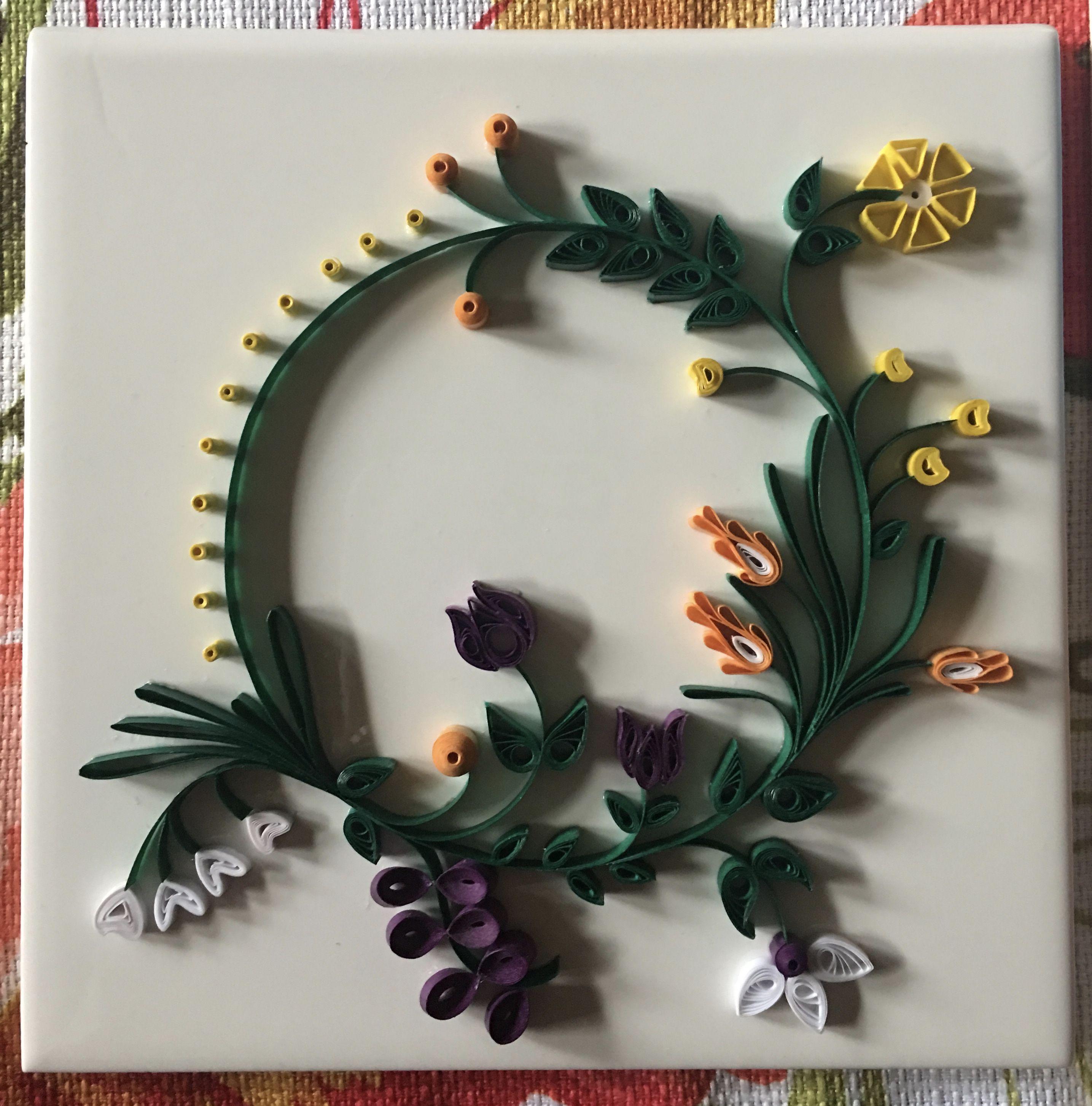 Paper Quilling Flower Wreath By Lauren Byrne @PickerElite | Quilling ...