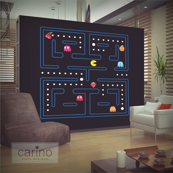 Large Pacman wall sticker pac man sticker by ...