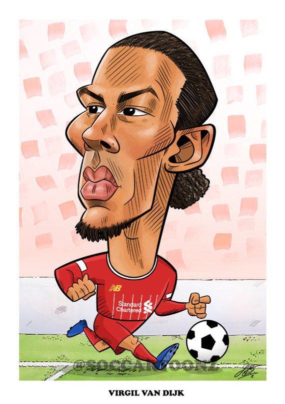 Football Art Gift - Virgil Van Dijk (Liverpool) Caricature