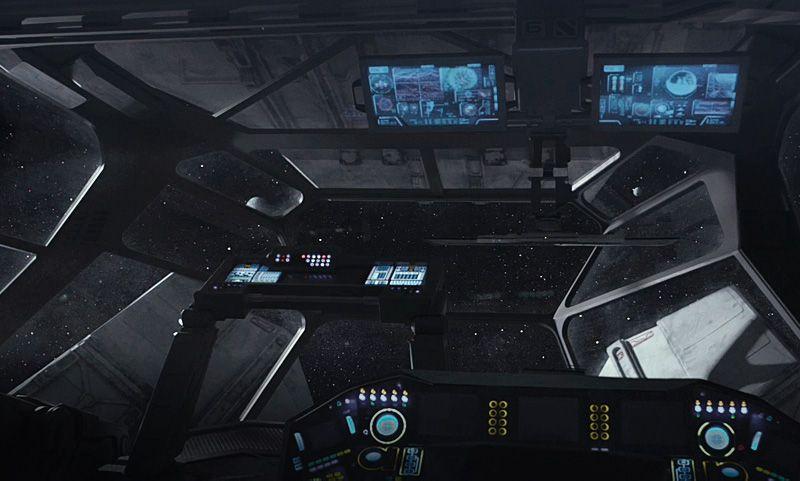 single person bridge sci fi spacecraft - photo #41