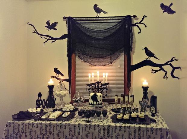 Hostess with the Mostess® - Halloween Dessert Table Halloweenie - sweet 16 halloween party ideas