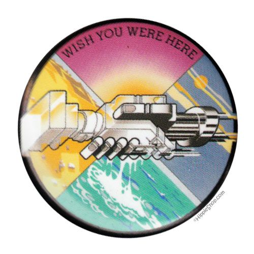 Pink floyd wish you were here button on sale for 1 99 at hippieshop com