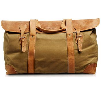 African Canvas/Leather Weekender Safari Grade Bag | Travel ...