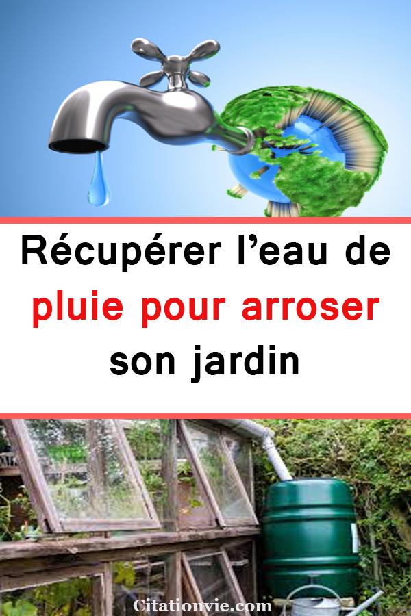Recuperer L Eau De Pluie Pour Arroser Son Jardin Recuperateur
