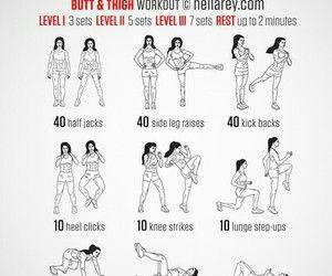 Butt and thigh workout