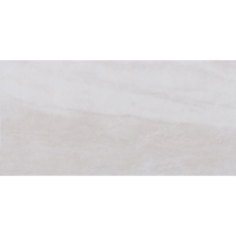 Ms International Cappuccino 12 In X 12 In Polished: MS International Regale Cream 12 In. X 24 In. Glazed